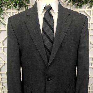 Jos. A. Bank Men's 44R Grey 100% Wool Blazer